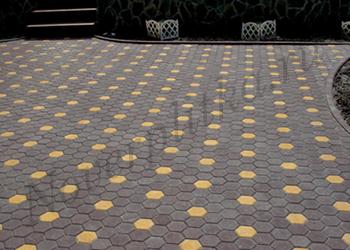 тротуарная плитка соты фото